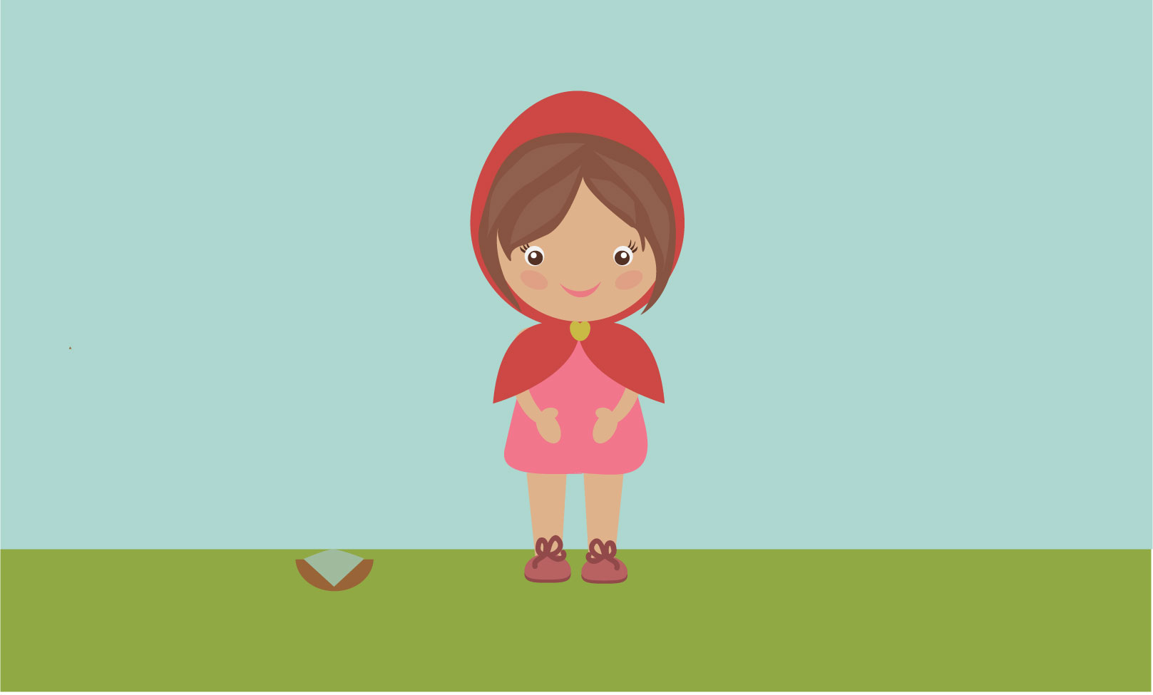 Character Design Using Adobe Illustrator : Character design red riding hood graphic